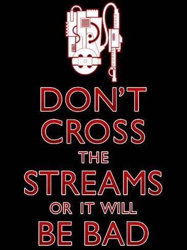 Don't Cross The Streams Plakat