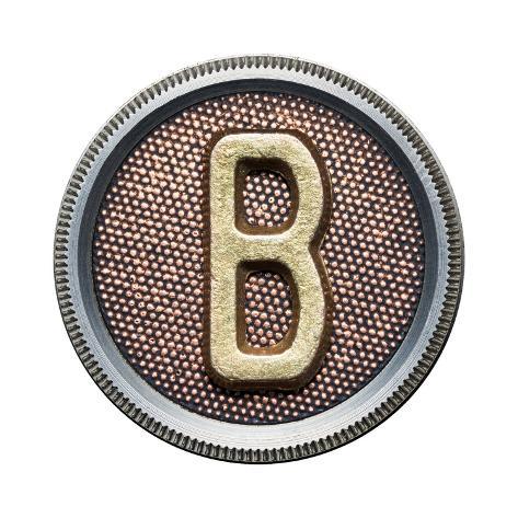 Metal Button Alphabet Letter Kunsttrykk