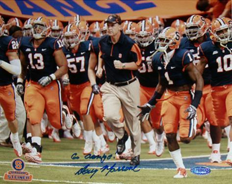 Doug Marrone Syracuse Running with Team