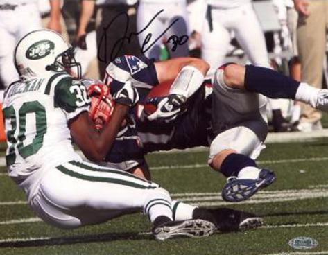 Drew Coleman New York Jets Tackle vs Patriots Autographed Photo (Hand Signed Collectable) Foto