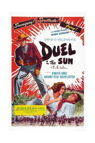 Duell i solen Giclee-trykk