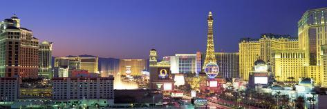 Dusk, the Strip, Las Vegas, Nevada, USA Premium fototryk