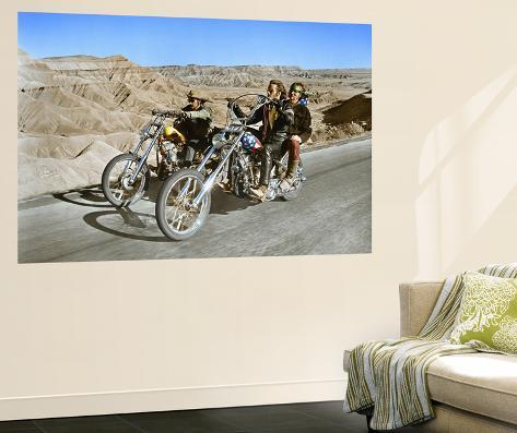 Easy Rider, Dennis Hopper and Peter Fonda, 1969 Veggmaleri