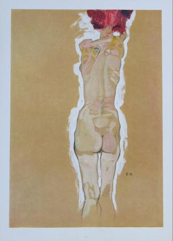 Nude Girl Standing, from the Backside, 1910 Samletrykk