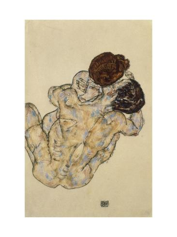 Umarmung (Embrace), 1917 Giclée-tryk