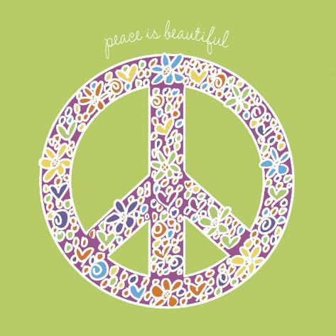 Peace is Beautiful Kunsttryk