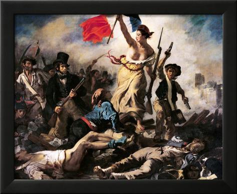 Frihet leder folket, 28. juli 1830 Innrammet Giclee-trykk