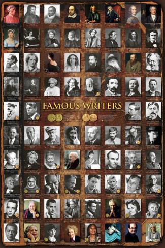 Famous Writers Plakat