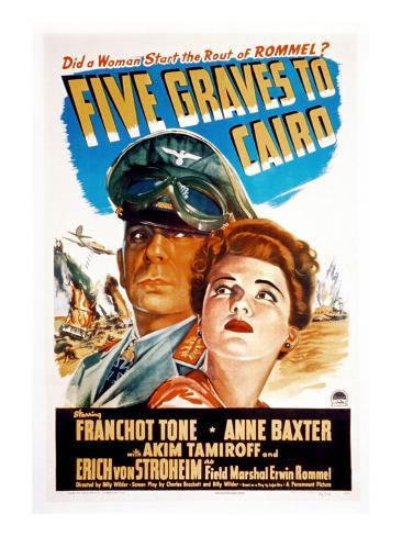 Five Graves to Cairo, Erich Von Stroheim, Anne Baxter, 1943 Foto