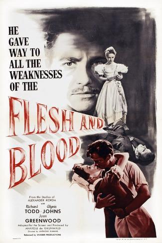 Flesh and Blood Kunsttrykk