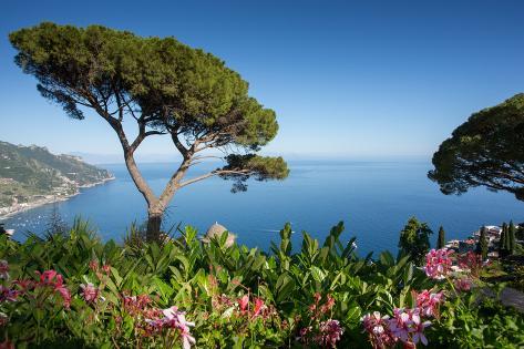 Villa Rufolo, Ravello, Costiera Amalfitana (Amalfi Coast), UNESCO World Heritage Site, Campania Fotografisk trykk