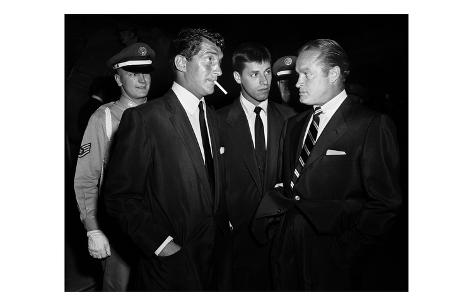 Dean Martin, Jerry Lewis, and Bob Hope Kunsttrykk