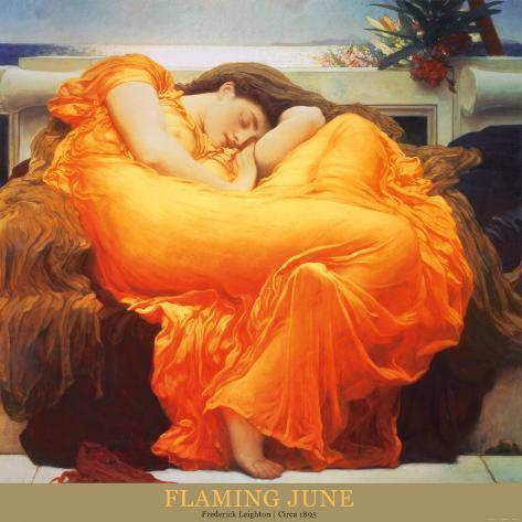 Flaming June, ca. 1895 Kunsttryk