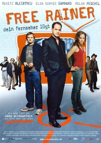 Free Rainer- Dein Fernseher Lugt! Plakat