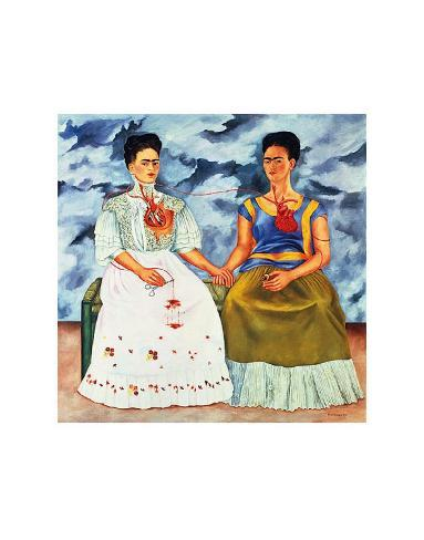 The Two Fridas, c.1939 Kunsttryk
