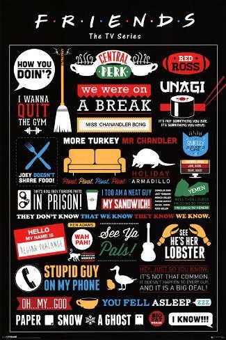 Friends Infographic Plakat