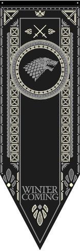 Game Of Thrones- House Stark Tournament Banner Stofplakat