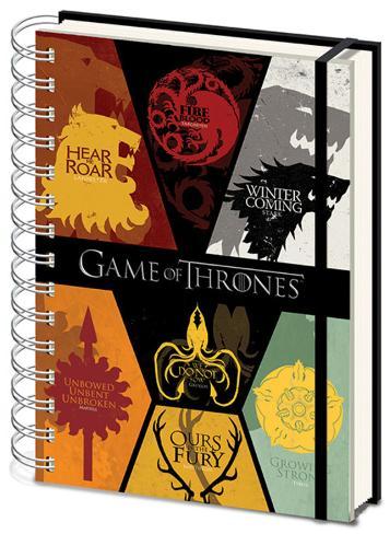Game of Thrones - Sigils A5 Notebook Lommebog