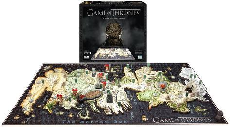 Game of Thrones - Westeros Map 4D Puzzle Puslespill