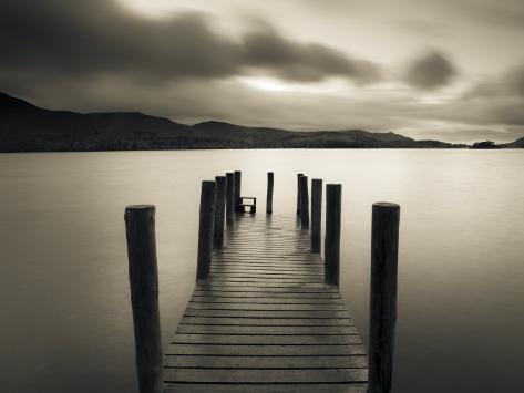Barrow Bay-bugten, Derwent Water-søen, Lake District, Cumbria, England Premium fototryk