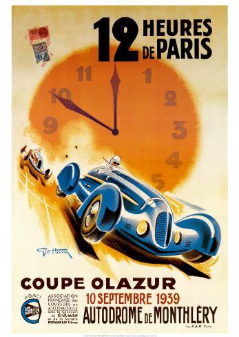12 Heures de Paris Kunsttryk