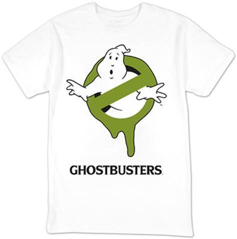 Ghostbusters- Green Slimed Logo T-Shirt