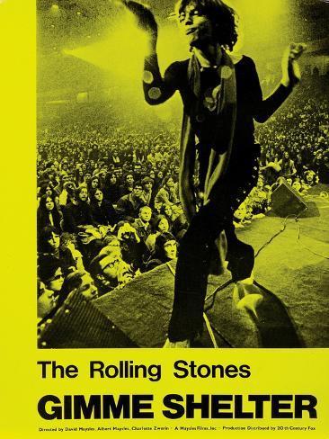 Gimme Shelter, Mick Jagger, 1970 Kunsttrykk
