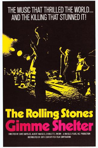 Gimme Shelter, US Poster Art, Mick Jagger, Keith Richards, (AKA the Rolling Stones), 1970 Kunsttrykk