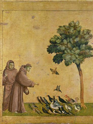 St. Francis of Assisi Preaching to the Birds Giclee-trykk