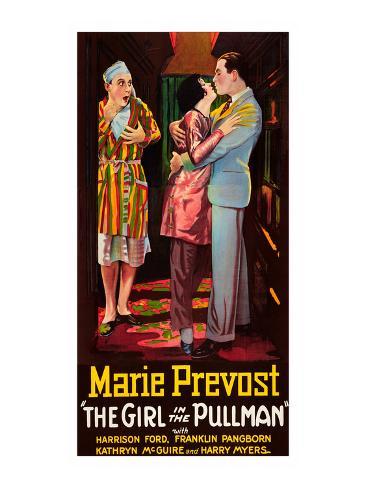 Girl in the Pullman Kunsttrykk