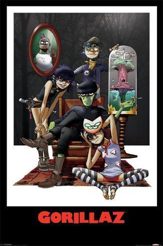 Gorillaz - Family Portrait Plakat