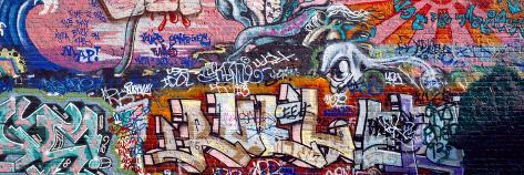 Graffiti on City Wall Fotografisk trykk