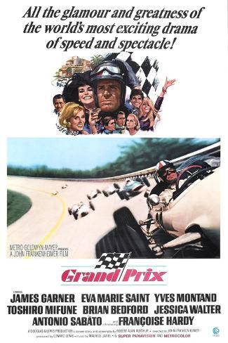 Grand Prix, James Garner, Eva Marie Saint, 1966 Kunsttryk