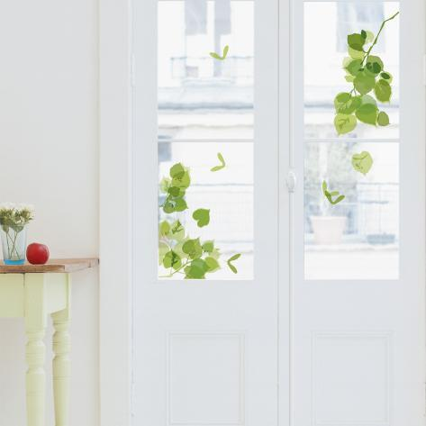 Green Leaves Window Decal Sticker Vindusdekor