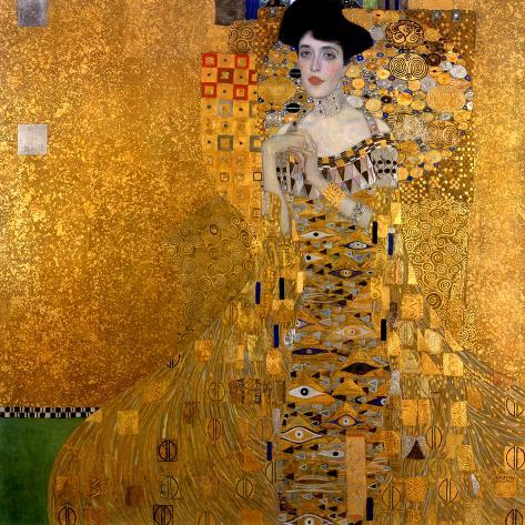 Adele Bloch-Bauer I, 1907 Giclée-tryk