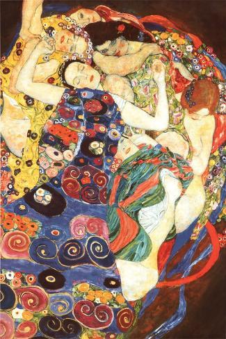 Gustav Klimt Virgin Art Print Poster Plakat