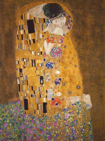 Kysset, ca.1907 Kunsttryk