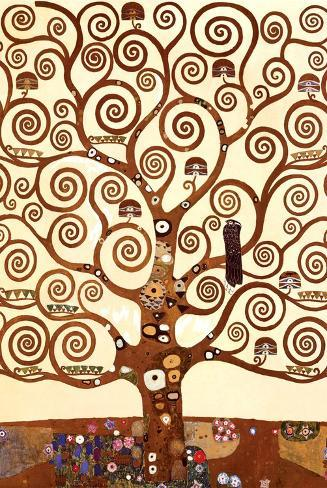 Livets træ, Stoclet-frisen, ca.1909, udsnit Plakat