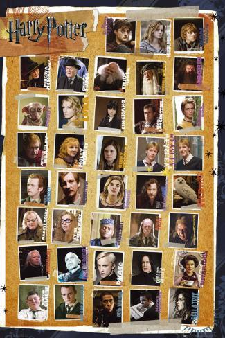 Harry Potter and the Deathly Hallows - Characters Plakat