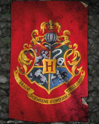 Harry Potter- Hogwarts Flag Miniplakat