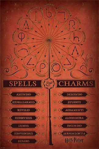 Harry Potter - Spells & Charms Plakat
