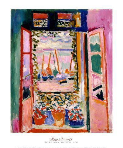 Åpent vindu, Collioure, 1905 Kunsttrykk