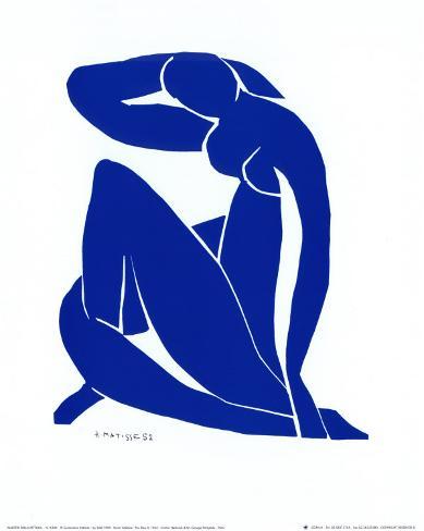 Blå akt II Kunsttrykk