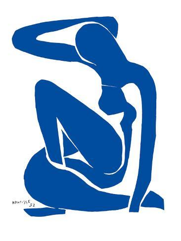 Blå akt Kunsttrykk