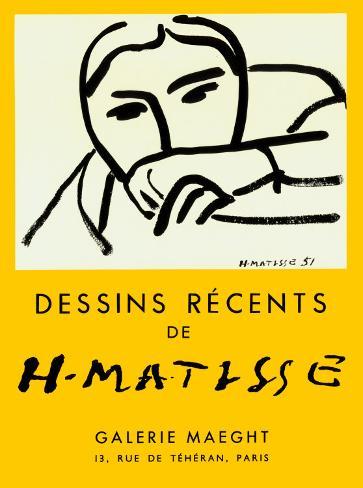 Dessins Recents, 1952 Kunsttryk