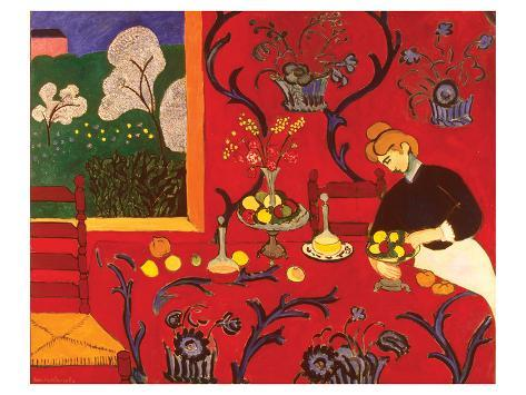 Fantastisk Det røde rommet Plakater av Henri Matisse hos AllPosters.no XL57