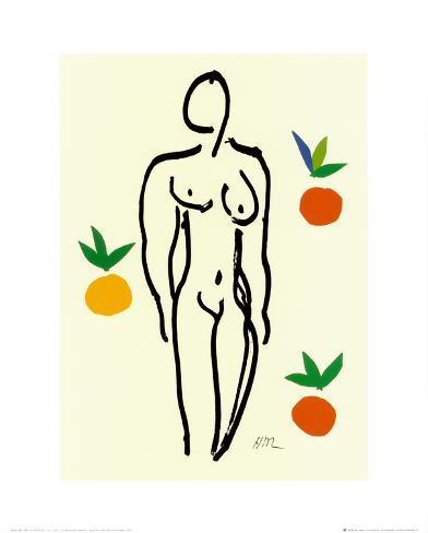 Nu Aux Oranges Kunsttryk
