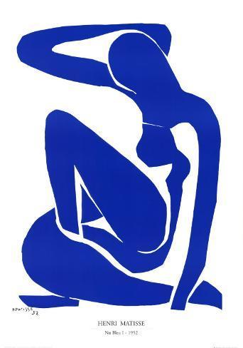 Nu Bleu I, c.1952 Kunsttrykk