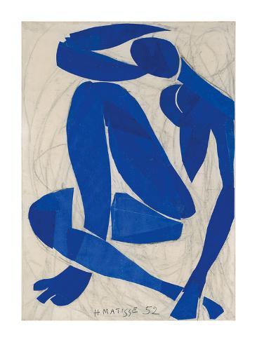 Nu Bleu IV Kunsttrykk