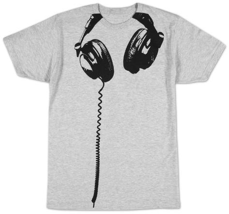 Hodetelefoner T-skjorte